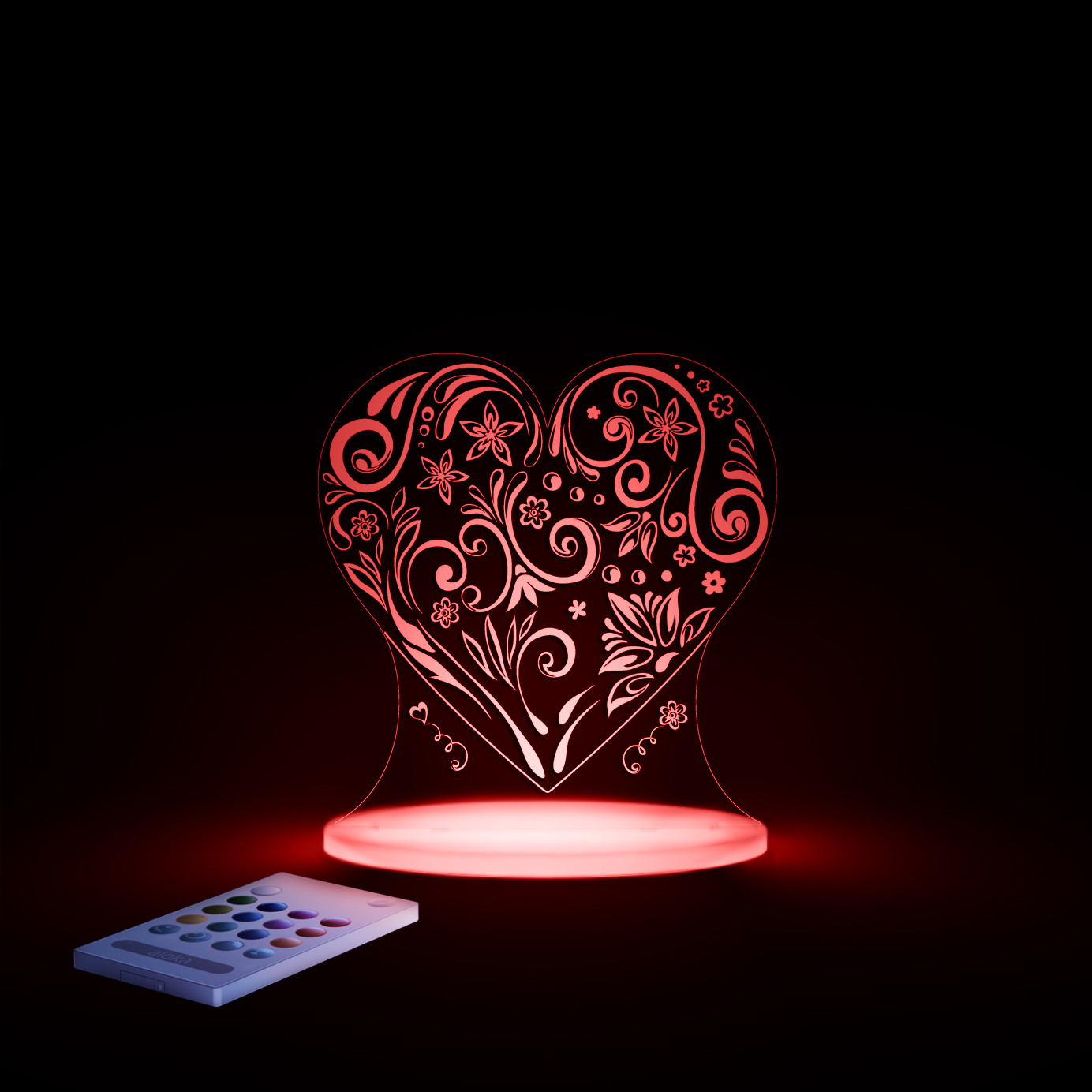 aloka Heart Sleepy Light RED