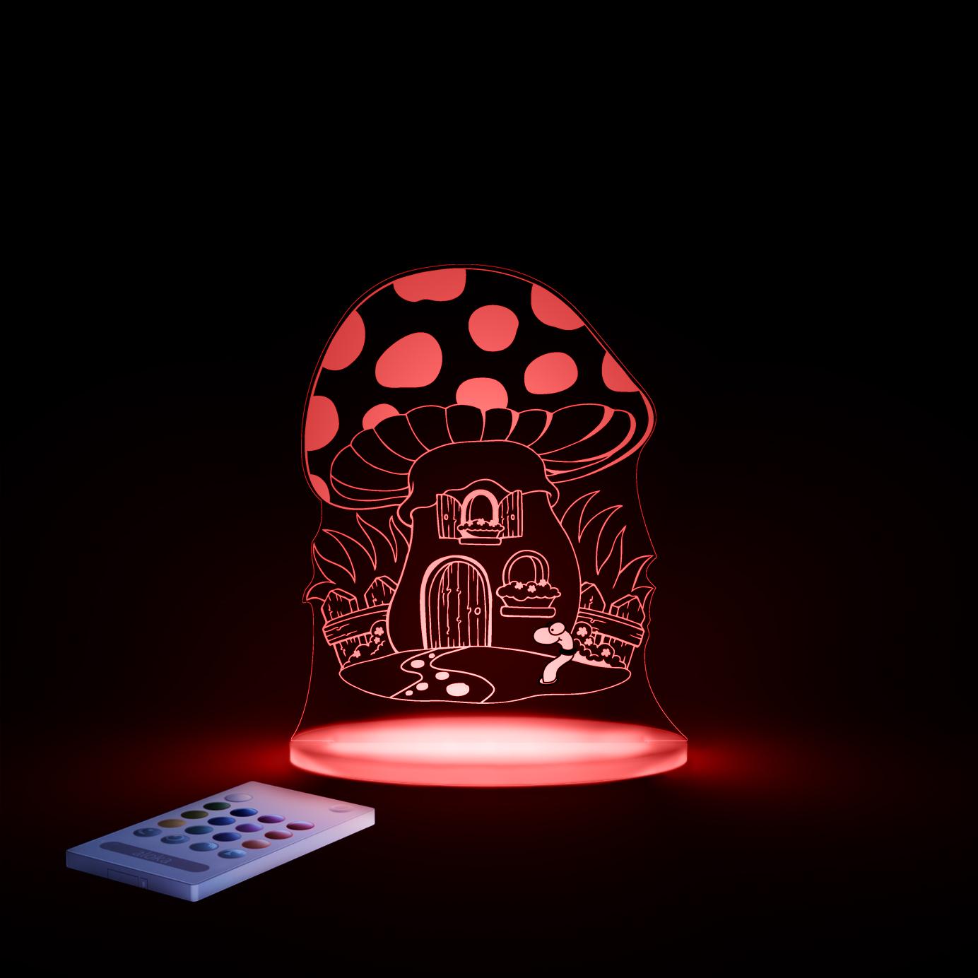 aloka Toadstool Sleepy Light RED